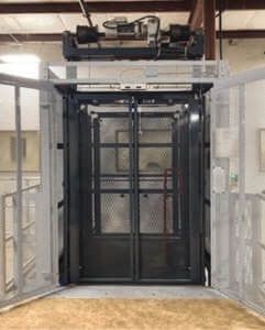 The entrance of a VRC lift