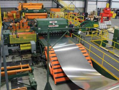 Cut to length and slitting line production process