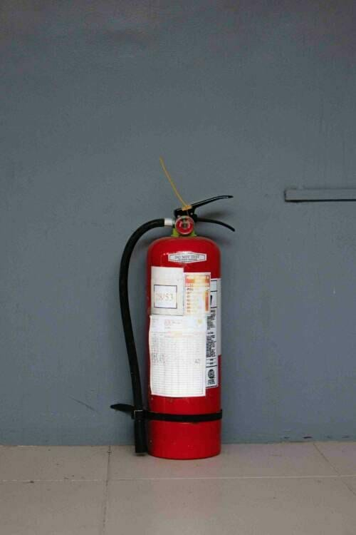 A portable fire extinguisher