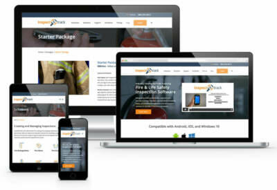Web design examples on desktop, laptop, and mobile devices   Greenhouse advertising ideas