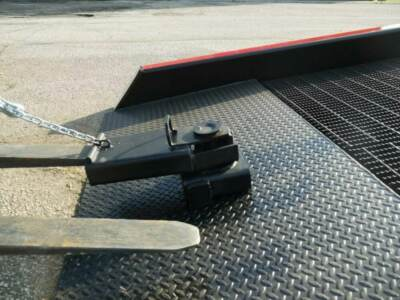 Forklift fork in ramp sleeve | Ramps for sale