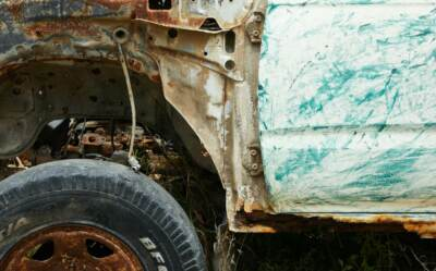 Old rusted car body | Rust cover for car