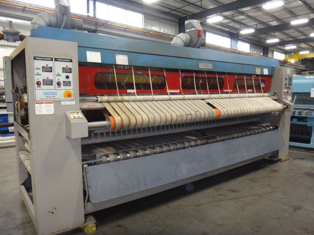 Industrial laundry equipment   used commercial flatwork ironer for sale